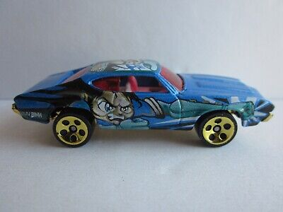 HOT WHEELS OLDS 442 W-30 #074 FROM THE 2003 ANIME SERIES GOLD CHROME BASE