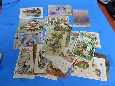 THIRTY FOUR  VINTAGE POST CARDS FROM 1906 TO 1908