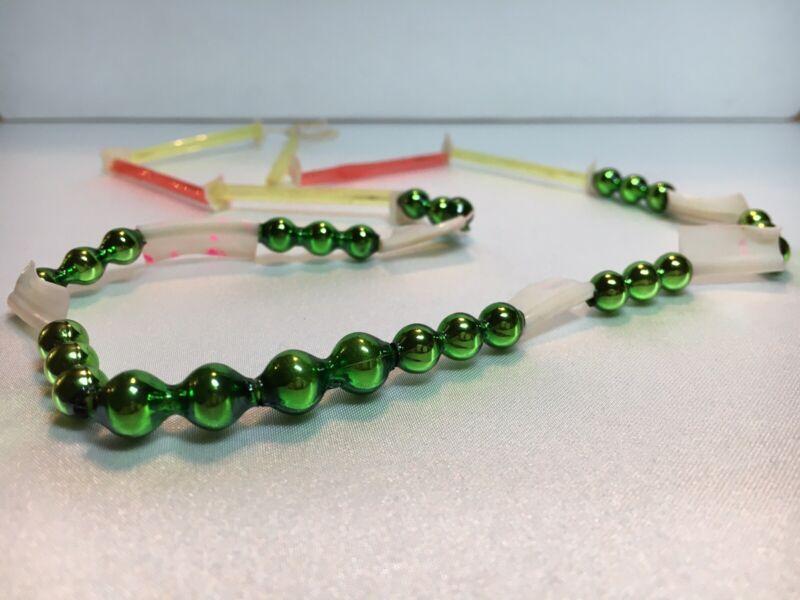 Rare Vintage Japanese Mercury Mardi Gras Glass/Plastic Bead - Approx. 22 Inches