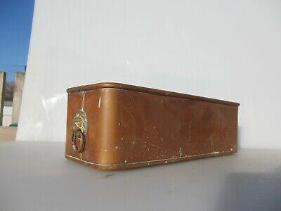 Vintage Copper Trough Tub Planter Plant Pot Antique Old Urn Jardiniere Brass 14