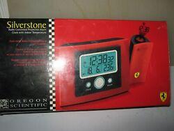 Oregon Scientific Radio Controlled Projection Alarm Clock Red Ferrari Edition