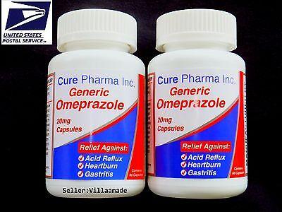 Otc Omeprazole 20 Mg 120 Capsules  Ultra Brand  Acid Reducer Exp Oct 2020 Sealed