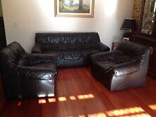 Moran Black Leather Lounge Suite Hillarys Joondalup Area Preview