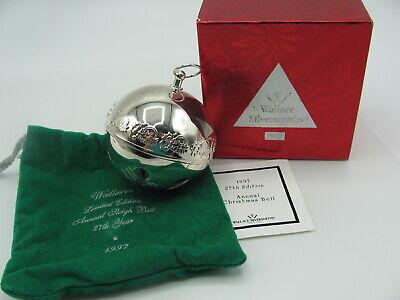 Wallace Silversmiths Annual Sleigh Bell Ornament 1972 thru 2015 - 46 options ()