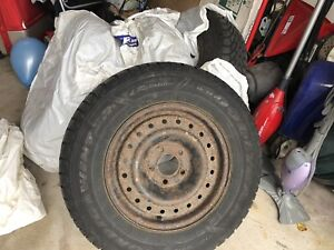 215/70R15 Winter tires on rims