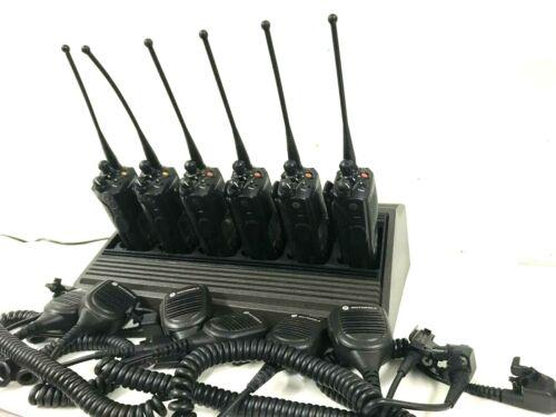6 Motorola XTS5000 P25 Police Digital Radio Model III 700/800Mhz H18UCH9PW7AN