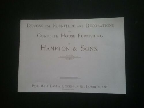 VICTORIAN HOUSE FURNISHINGS DESIGNS CATALOGUE *((SEE DESCRIPTION FOR DETAILS))*