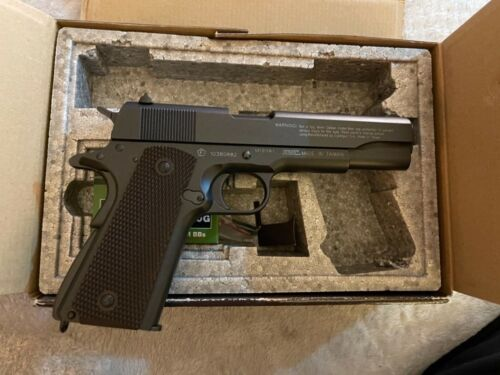Colt Licensed Airsoft 1911 Replica of 1911-A1 Pistol. Uses CO-2 Gas NIB