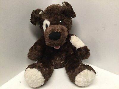 Childs toy Build-a-Bear brown white pink tongue puppy dog 189