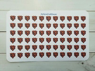 Chicago Bears Football Planner Stickers, Bear Face- Perfect For Any Planner - Football Face Stickers