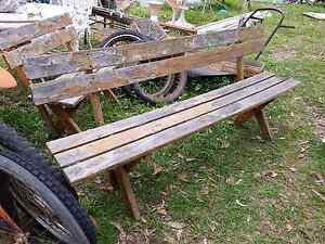 1.8m long wooden bench seat with back Joyner Pine Rivers Area Preview