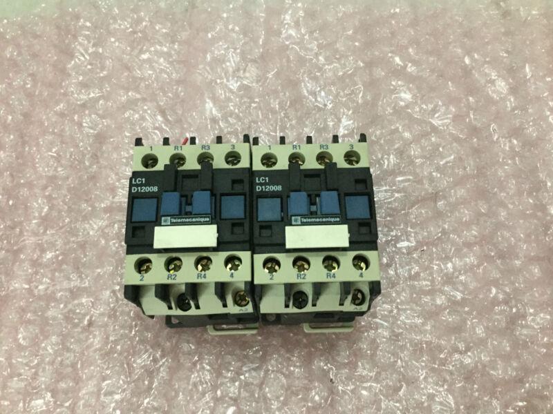 LOT OF 2 Telemecanique LC1D12008S94 Contactors