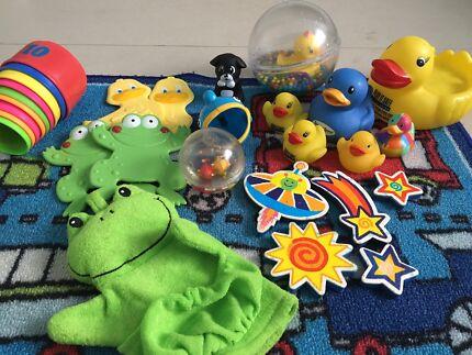 Clean used bath toys