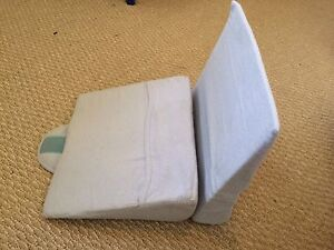 Two pillow wedges for pregnancy and baby
