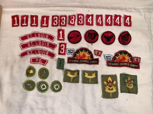 Lot 38 vintage BSA Boy Scouts Patches Badges Achievement MERIT COUNCIL CAMP