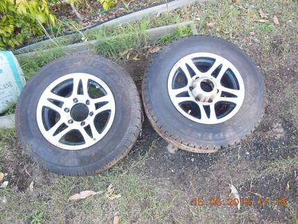 """2 NEW 15"""" MAG WHEELS AND NEW 195X15 TYRES SUIT LANDCRUISER HUBS Morisset Lake Macquarie Area Preview"""