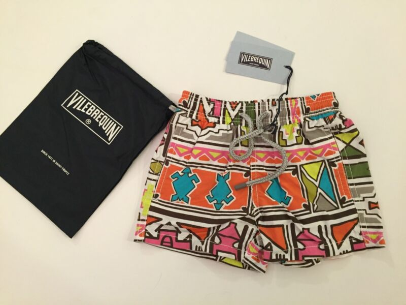 New w Tags & Bag Authentic Vilebrequin Swim Trunks / Swimwear 2T/ 2Y Kids Unisex