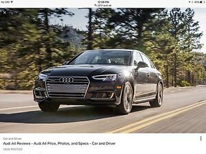 2017 Audi A4 lease takeover