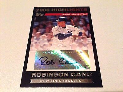 Robinson Cano 2007 Topps Update Highlights 2006Season Autograph New York Yankees