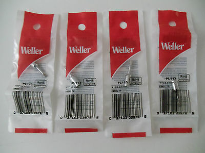 Qty 4 - Weller Pl113 - Thread-on Chisel Tip 0.13 X 3.30 Mm