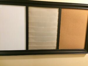 Dry erase board / cork board with paper sleaves