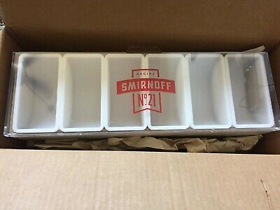 Smirnoff No. 21 Condiment Caddy Tray Holder Container For Bar Man Cave - Nib
