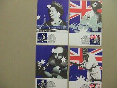 Set of four Australia maxi cards:Australia-GB joint issue