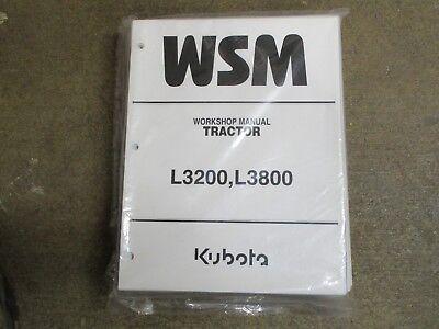 Kubota L3200 L3800 L 3200 3800 Tractor Service Repair Manual