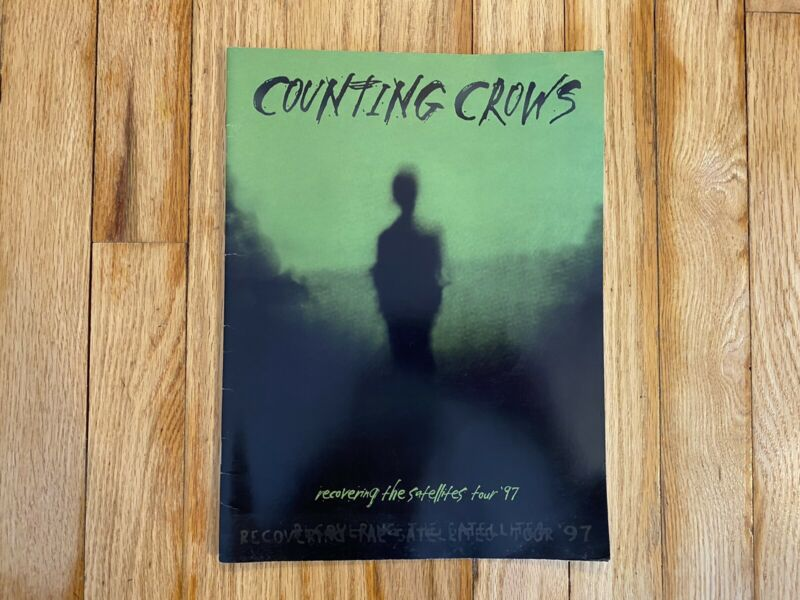Rare Counting Crows 1997 RECOVERING THE SATELLITES Tour Book