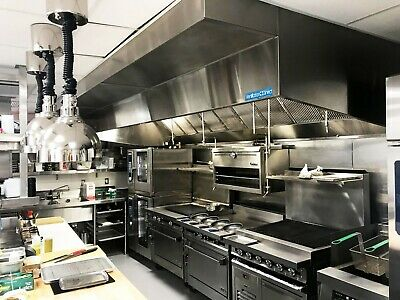 4 Commercial Kitchen Wall Canopy Hood Exhaust Fan And Supply Fan Package