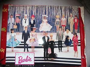 Nostalgic Barbie 1991 Calendar - new