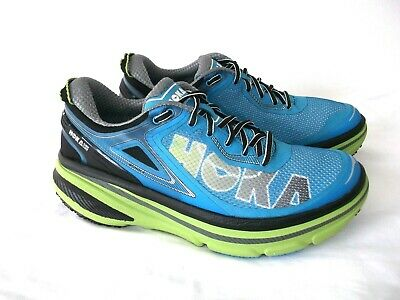HOKA ONE ONE 'BONDI 4'  TIME TO FLY BLUE RUNNING TRAINERS 8.5 UK EXCELLENT!!