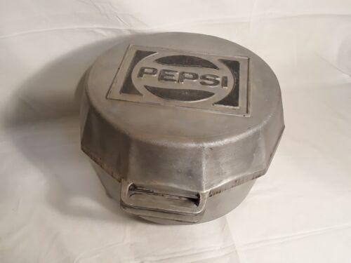 Vintage PEPSI Cola Cast Aluminum Portable Charcoal Grill, Carrollton Texas