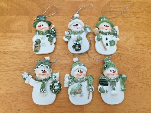 6 pc New Christmas Ornament Snowman