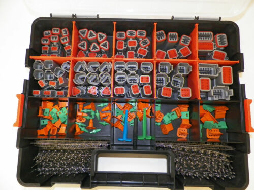 518 PC GRAY DEUTSCH DT CONNECTOR KIT STAMPED CONTACTS + REMOVAL TOOLS