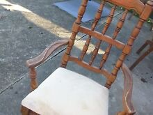 ANTIQUE CARVED SOLID TIMBER DINNING TABLE AND 5 CHAIRS Mount Riverview Blue Mountains Preview