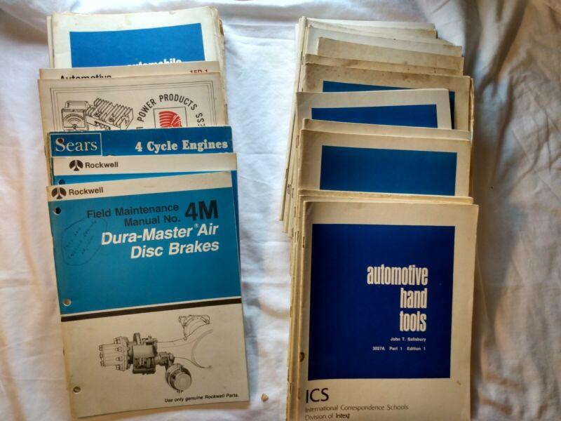 International Correspondence School AUTOMOTIVE books 68-72 Vintage Vehicles