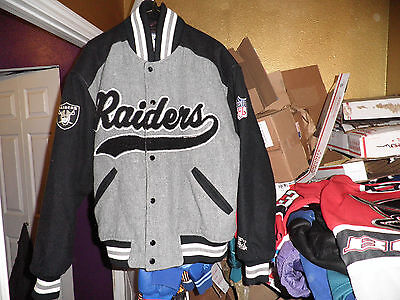 Vintage La Raiders Throwback Script Wool Varsity Starter Jacket Medium