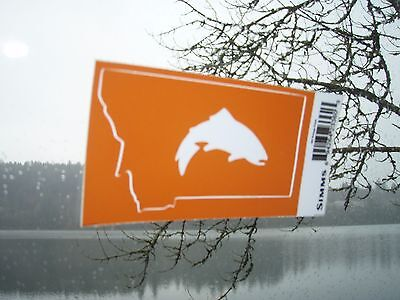 SIMMS Orange Montana Trout Fly Fishing sticker/decal