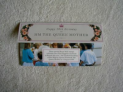 UK Royal Mail England Mint Stamps 90th Birthday HM The Queen Mother 1990