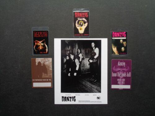 """DANZIG,B/W Promo photo,5 VERY RARE """"OTTO"""" Backstage passes"""