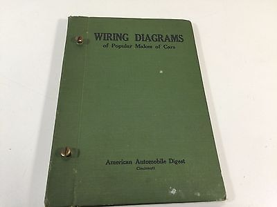 Rare 1924 American Automobile Digest - Wiring DIagrams of Popular Makes Of Cars