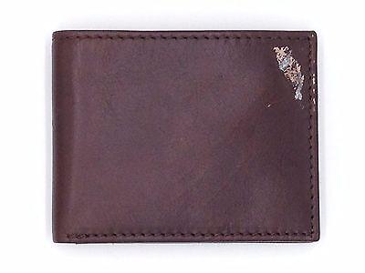 $75 TASSO ELBA MEN BROWN LEATHER BIFOLD PASSCASE 9CC PHOTO ID CREDIT CARD WALLET