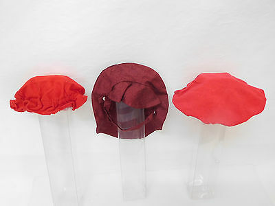 MES-55206Neuzeitliche 3 Teile Puppenhüte/Mützen Kopfdurchmesser ca.: 110-130mm