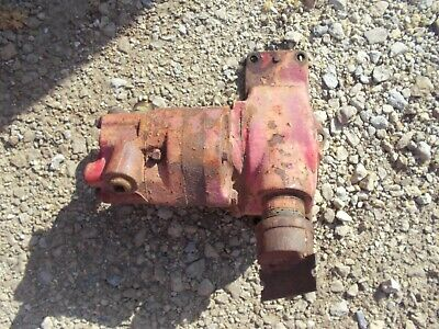 Massey Harris 44 Tractor Original Mh Hydraulic Pump Assembly W Drive Gear