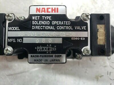 Nachi Hydraulic Solenoid Valve Ss-g01-e3x-r-c1-30