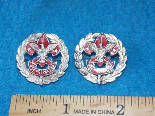 Vintage - Boy Scout Council Scout Executive Collar Pin Set