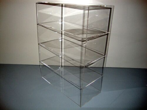 "DS-Acrylic Lucite Countertop Display Case ShowCase Box Cabinet 12"" x 4"" x 16"""