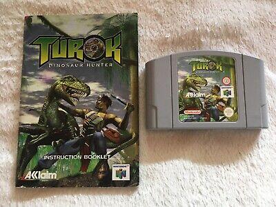 Turok: Dinosaur Hunter - Nintendo 64 N64 - PAL - Juego + Manual - Todo Original