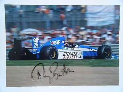 Thierry Boutsen Ligier Renault Gitanes Blondes JS 37 signed 1992 Formula 1 Kodak